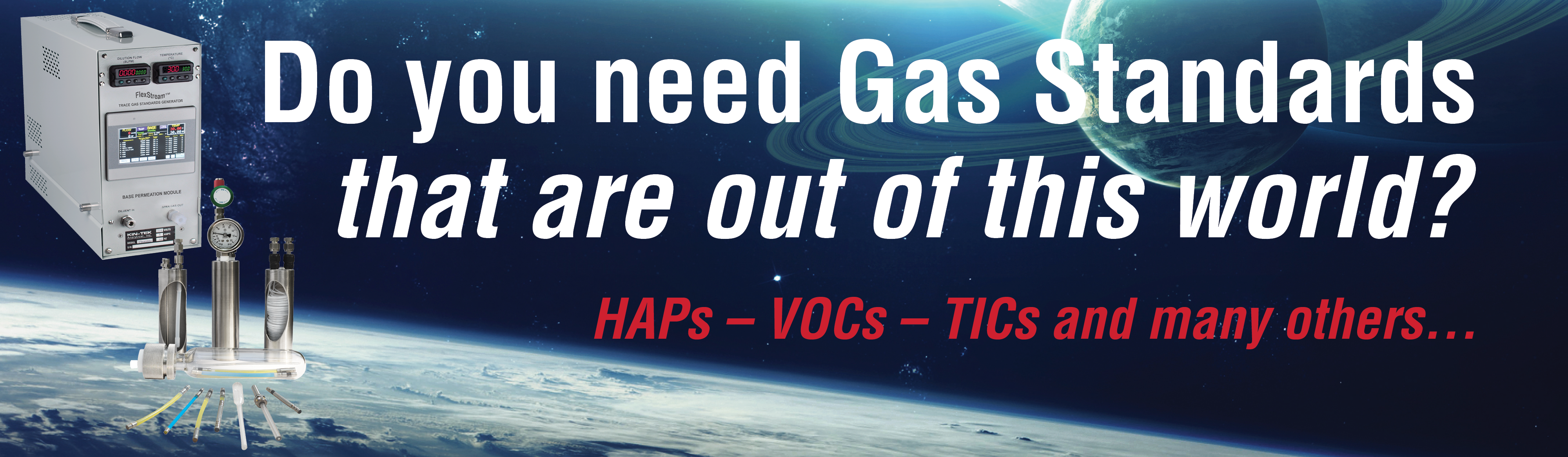 Gas Standards out of this world